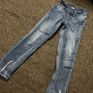 Justice jeggings worn once
